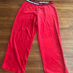 Tommy Hilfiger Red Velour Women's Track Pants